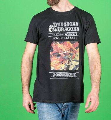 Men's Black Dungeons & Dragons Game T-Shirt