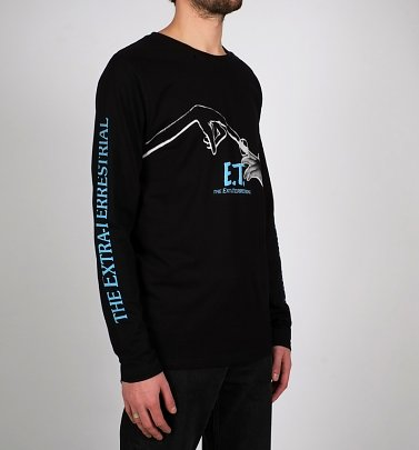 Men's Black E.T. Long Sleeve T-Shirt from Dedicated