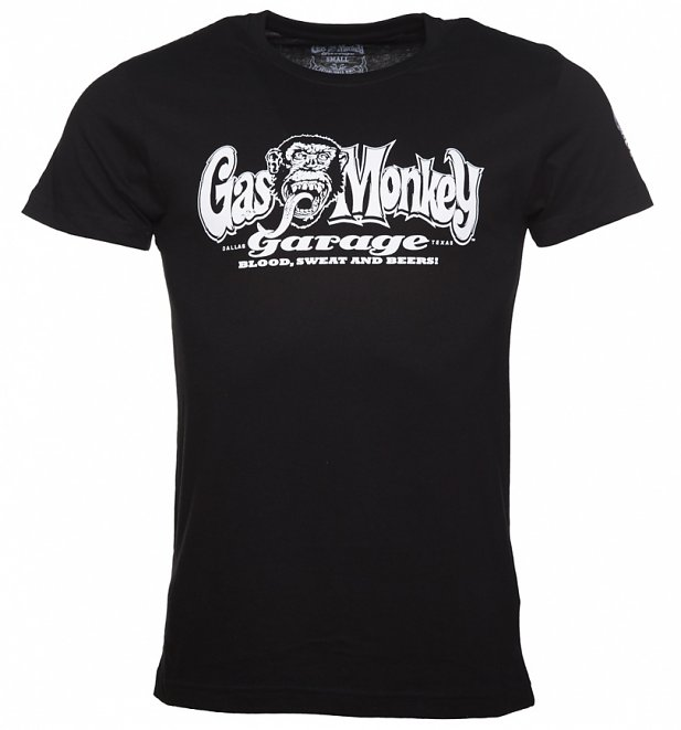 Men's Black Fast N' Loud Gas Monkey Garage Logo T-Shirt
