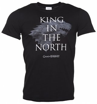Men's Black Game Of Thrones King Of The North T-Shirt