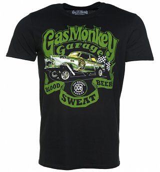 Men's Black Gas Monkey Garage Gasser Fast N' Loud T-Shirt