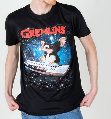 Men's Black Gremlins Gizmo Keyboard T-Shirt
