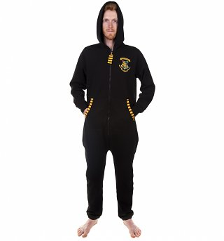 Men's Black Harry Potter Hogwarts Onesie
