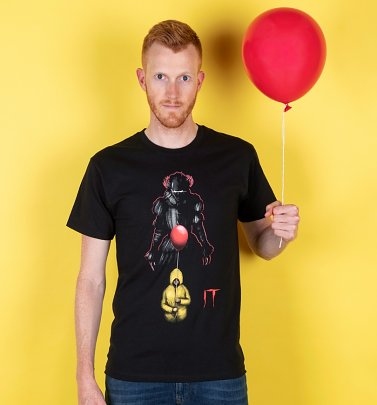 Men's Black IT Pennywise Red Balloon T-Shirt