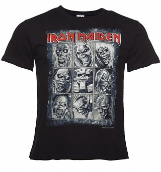 Men's Black Iron Maiden Nine Eddies T-Shirt from Amplified