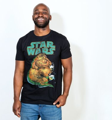 Men's Black Jabba The Hut Vintage T-Shirt