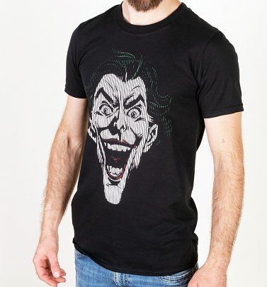 Men's Black Joker Lines T-Shirt