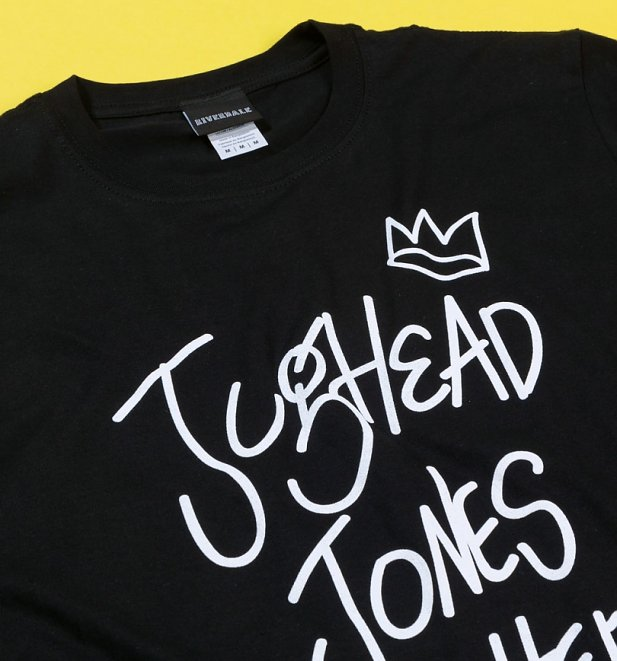 Men's Black Jughead Jones Wuz Here Riverdale T-Shirt