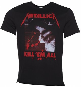 Men's Black Metallica Kill 'Em All T-Shirt from Amplified