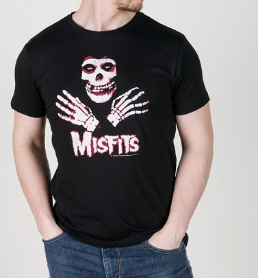 Men's Black Misfits Hands T-Shirt