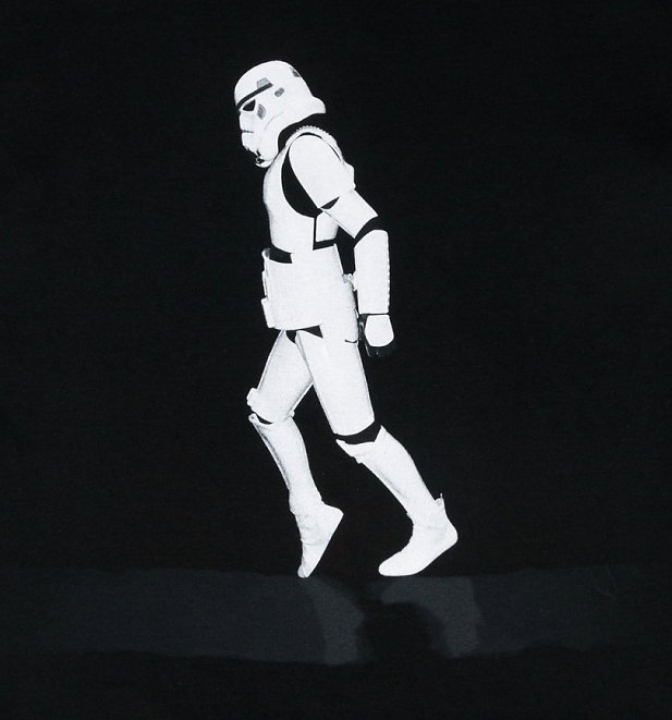 Men's Black Moonwalker Stormtrooper T-Shirt