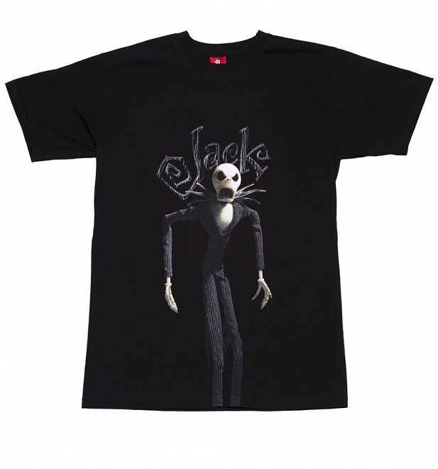 Men's Black Nightmare Before Christmas Jack Skellington T-Shirt
