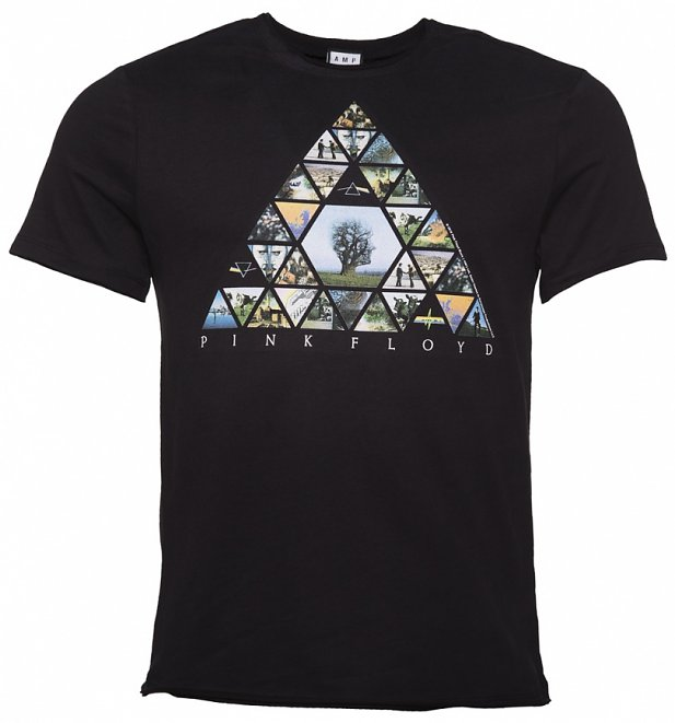 Men's Black Pink Floyd Triangle T-Shirt from Amplified