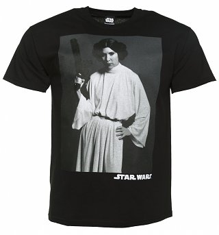 Men's Black Princess Leia Star Wars T-Shirt