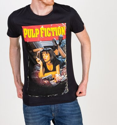Men's Black Pulp Fiction Movie Poster T-Shirt
