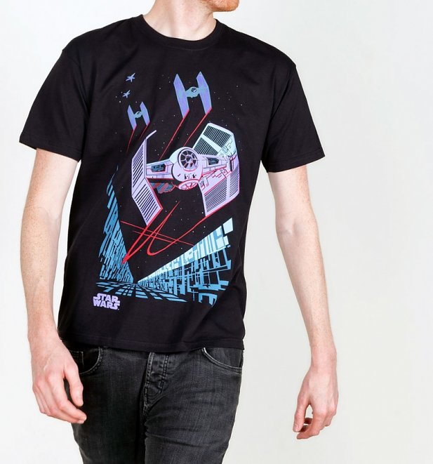 Men's Black Retro Tie Fighter Archetype Star Wars T-Shirt