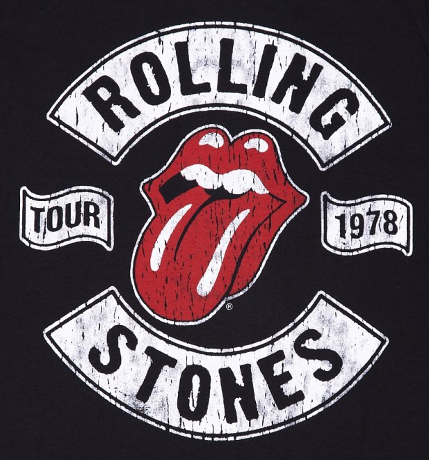 Men's Black Rolling Stones 1978 Tour T-Shirt