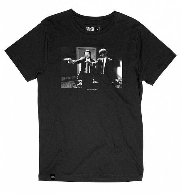 Men's Black Say What Pulp Fiction Organic Cotton T-Shirt from Dedicated