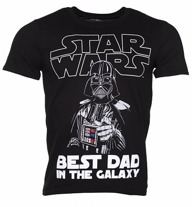 Men's Black Star Wars Best Dad In The Galaxy T-Shirt