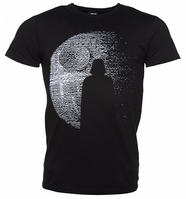 Men's Black Star Wars Darth Vader Death Star T-Shirt