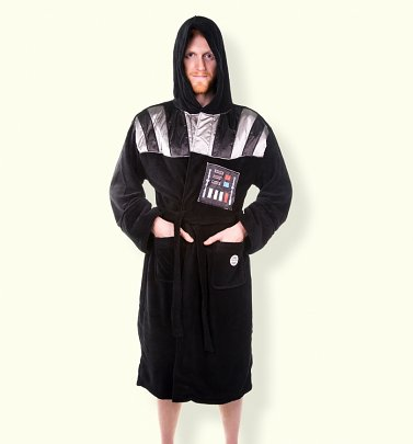 Men's Black Star Wars Darth Vader Hooded Dressing Gown With Breathing Sounds