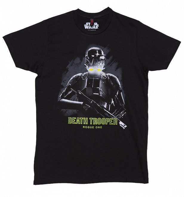 Men's Black Star Wars Rogue One Death Trooper T-Shirt