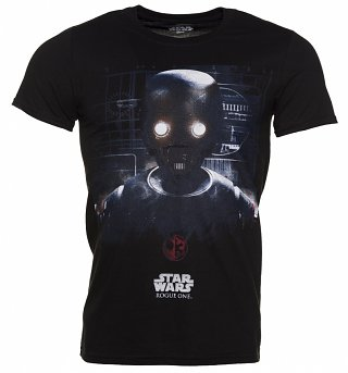 Men's Black Star Wars Rogue One K-2SO Prime Force 01 T-Shirt