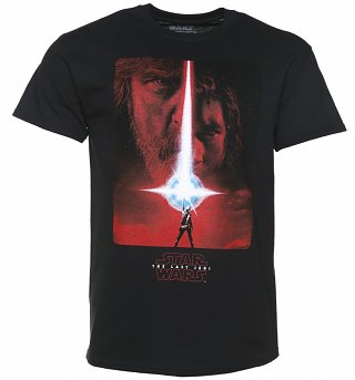 Men's Black Star Wars VIII The Last Jedi Poster T-Shirt