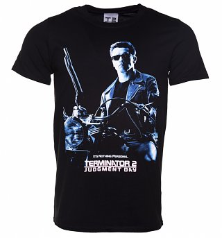 Men's Black Terminator 2 Judgement Day T-Shirt