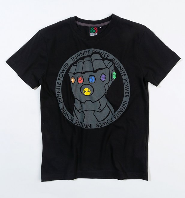 Men's Black Thanos Gauntlet Avengers T-Shirt from For Love and Money