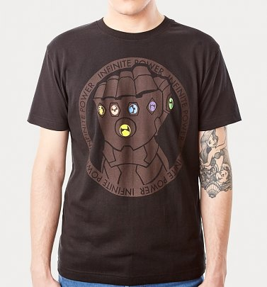 Men's Black Thanos Gauntlet Avengers T-Shirt from For Love & Money