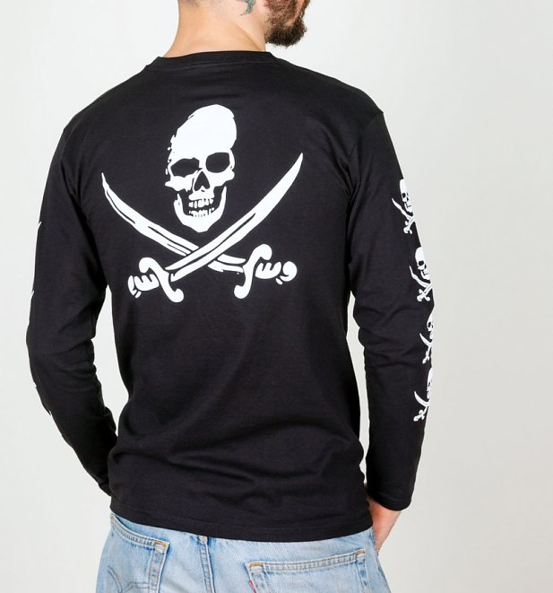 Men's Black The Goonies Long Sleeve T-Shirt