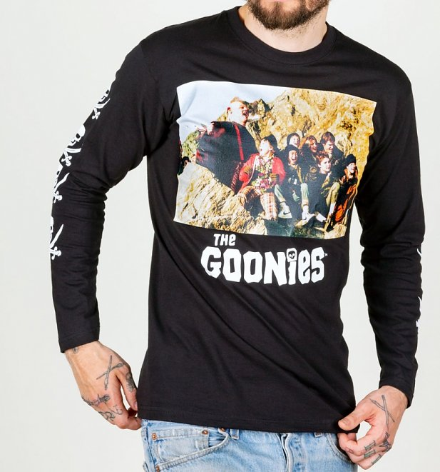 36a53ed26 Men's Black The Goonies Long Sleeve T-Shirt