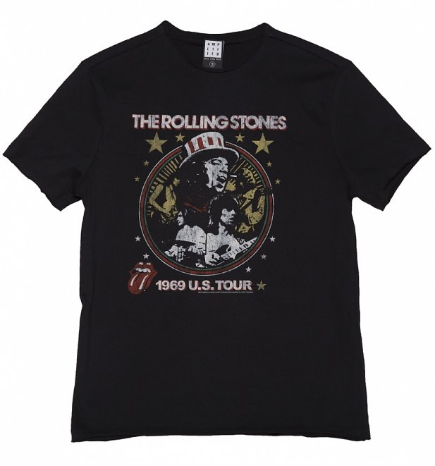 Men's Black The Rolling Stones US 1969 Tour T-Shirt from Amplified