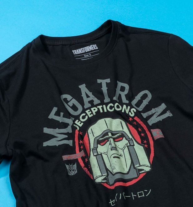 Men's Black Transformers Megatron T-Shirt from Difuzed