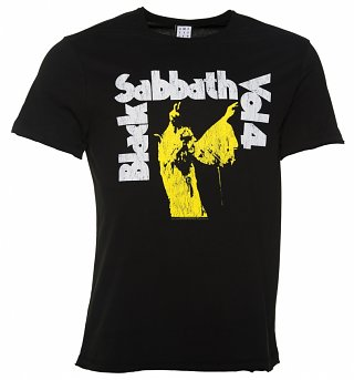 Men's Black Vol.4 Black Sabbath T-Shirt from Amplified