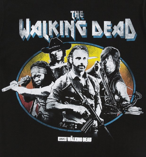 Men's Black Walking Dead Gang T-Shirt