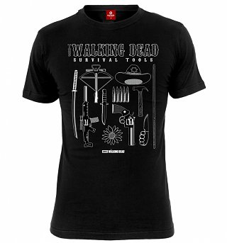Men's Black Walking Dead Survival Kit T-Shirt