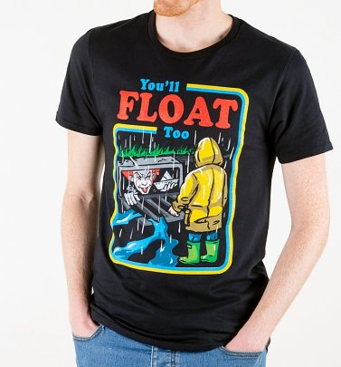Men's Black You'll Float Too IT T-Shirt