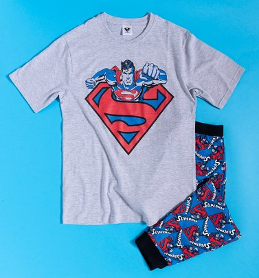 Men's Blue And Red Superman Pyjamas