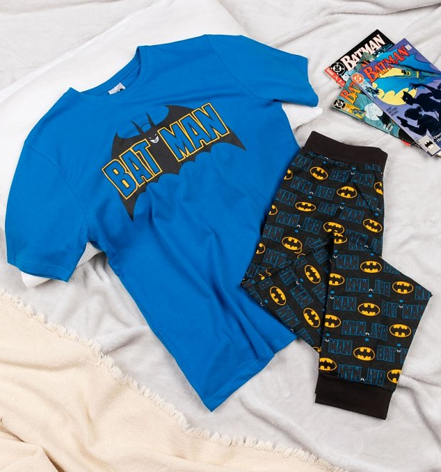 Men's Blue Batman Pyjamas