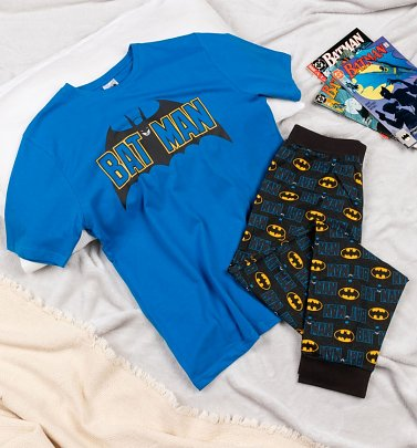 Men's Blue Batman DC Comics Pyjamas
