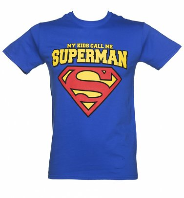Men's Blue DC Comics My Kids Call Me Superman Super Dad T-Shirt