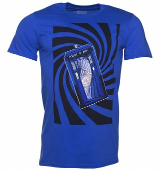 Men's Blue Doctor Who TARDIS Swirl T-Shirt