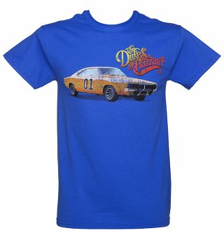 Men's Blue Dukes Of Hazzard General Lee T-Shirt
