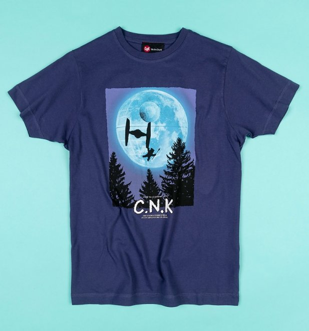 Men's Blue Fly Home Star Wars T-Shirt from Chunk