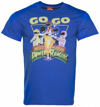 Men's Blue Go Go Power Rangers T-Shirt