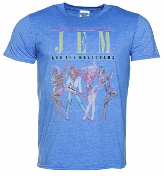 Men's Blue Marl Jem And The Holograms Tour T-Shirt