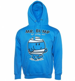 Men's Blue Mr Bump Mr Men Hoodie