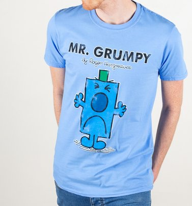 Men's Blue Mr Grumpy T-Shirt
